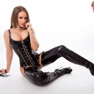 Westward Bound Buckle Front, Domination Latex Overbust Corset