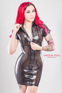 Westward Bound Semi-Transparent Latex Maitresse Dress