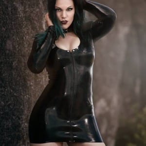 Trixi Latex Rubber Dress worn by Miss Metnal