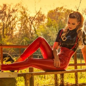 High Waisted Juliette Latex Leggings and Juliette Latex Top.