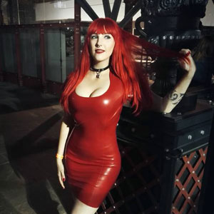 Online review of Westward Bound's Audrey Latex Dress.