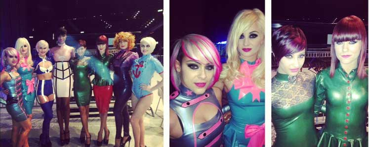 Paul Mitchelle Hair and Westward Bound Latex Clothing Designers, fashion show in Zurich, sponcered by Mercedes Benz.