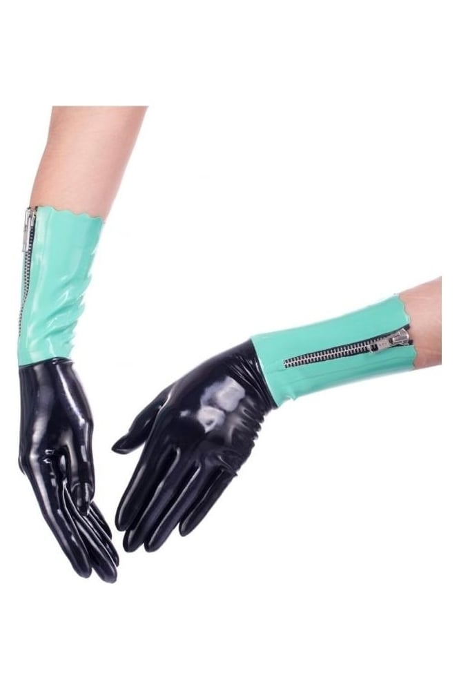 Acquiesce Zipper Latex Rubber Gloves