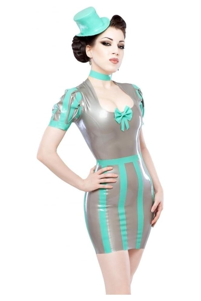 Adrena-Fatale Latex Rubber Latex Rubber Dress.