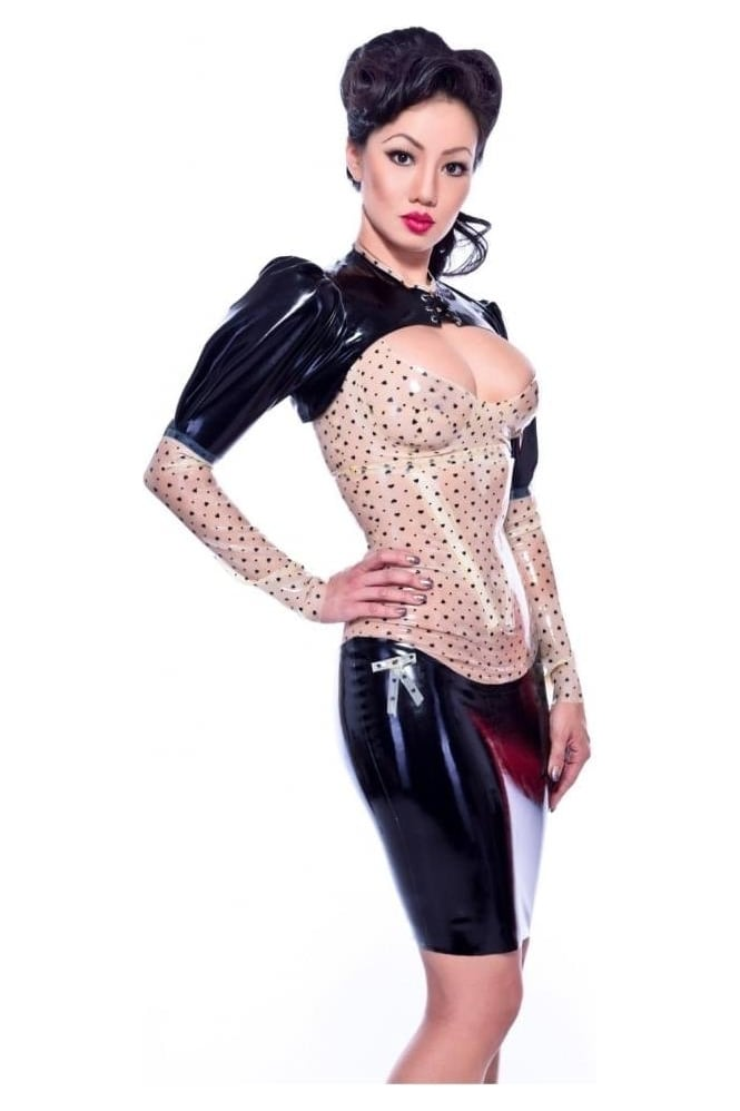 Anhedonia Latex Rubber Corset Latex Rubber Skirt