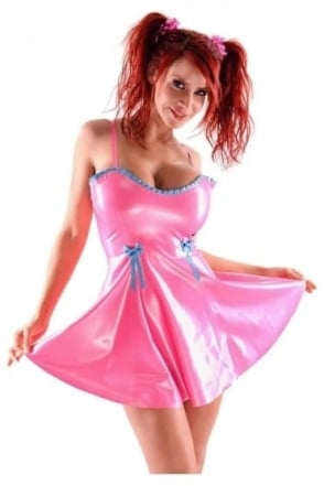 Baby-Doll Latex Rubber Dress.