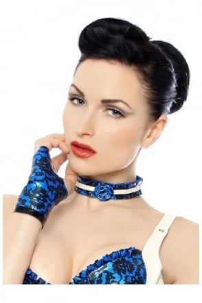 Bordelle-L'Amour Bombillicit Rose Latex Rubber Collar