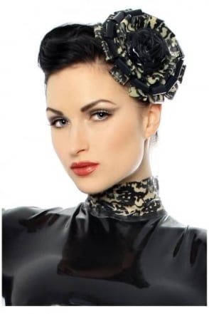 Bordelle-L'Amour Eve Latex Rubber Fascinator