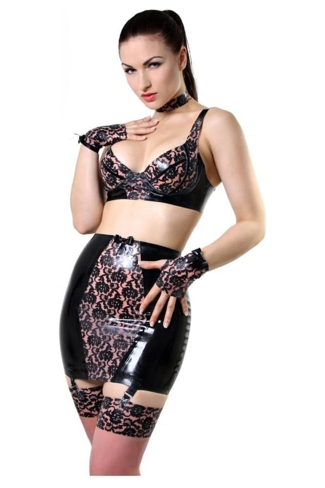 Bordelle-L'Amour Latex Rubber Skirt Latex Rubber Clincher