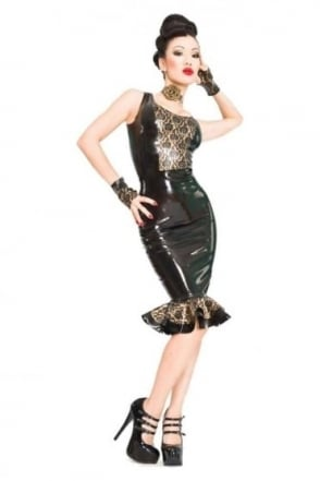 Bordelle-L'Amour Panel Latex Rubber Singlet