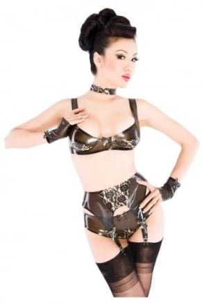 Bordelle-L'Amour Peek Latex Rubber Bra