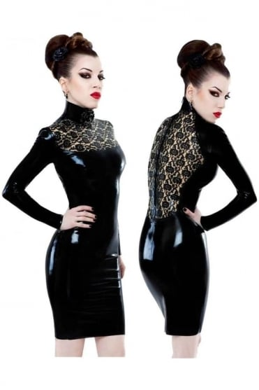Bordelle-L'Amour Rose Latex Rubber Dress.