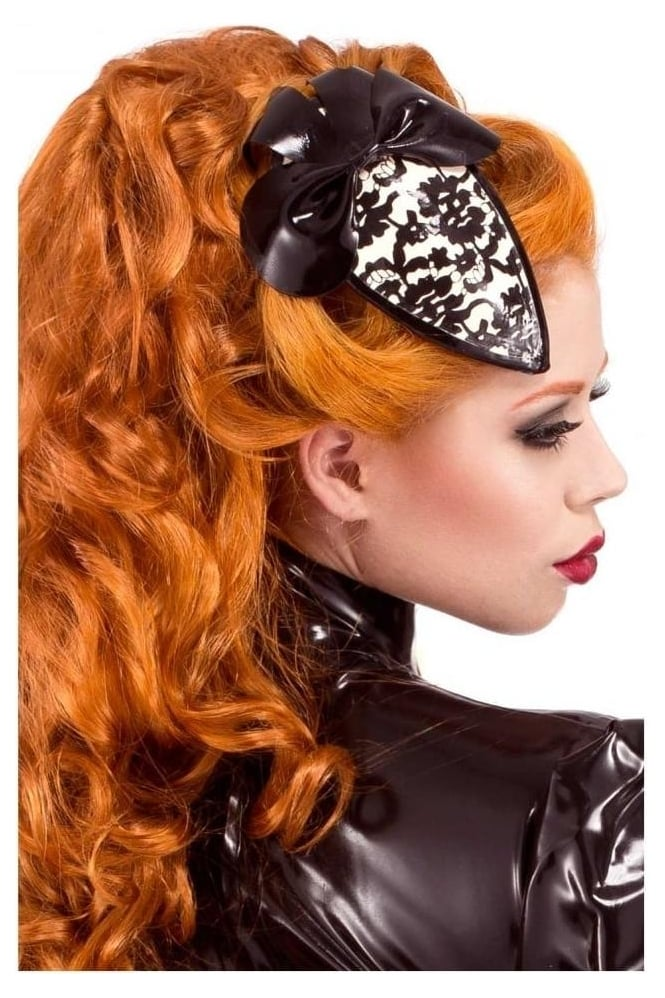 Bordelle-L'Amour Teardrop Latex Rubber Fascinator