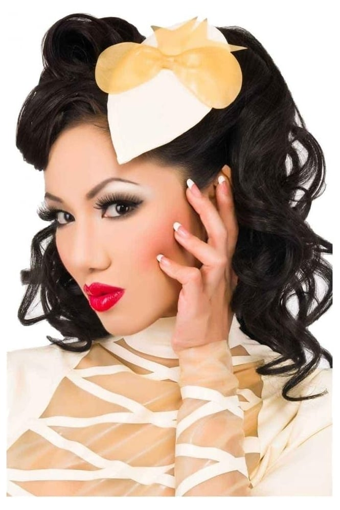 Bow Latex Rubber Fascinator