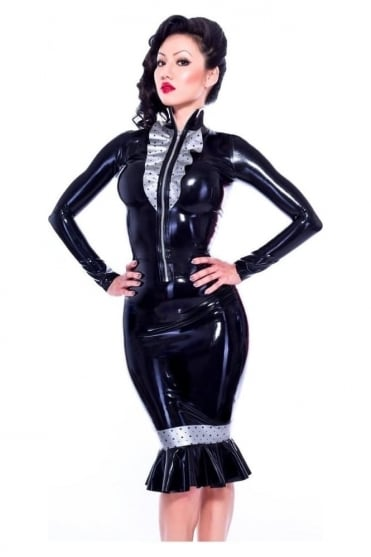 Braggart Bliss Pencil Latex Rubber Skirt
