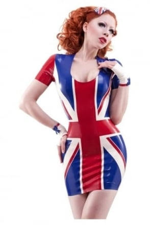 Britannia Latex Rubber Dress.