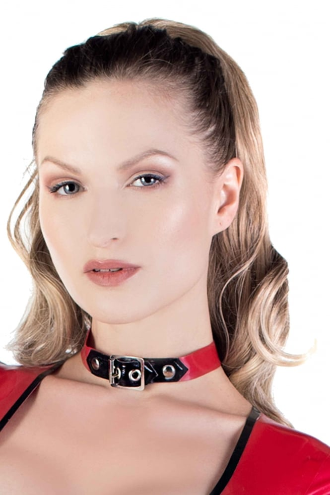 Buckle Latex Rubber Collar