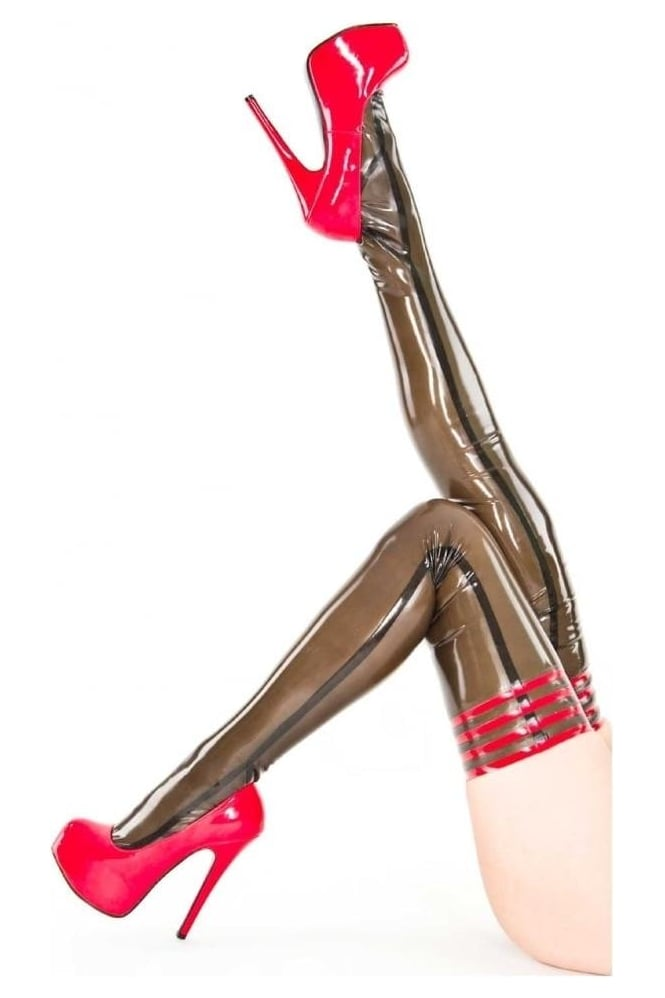 Cabaret Latex Rubber Stockings