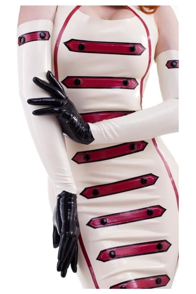 Cadette Button Latex Rubber Gloves