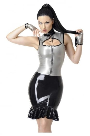 Carissa Keyhole Latex Rubber Top.