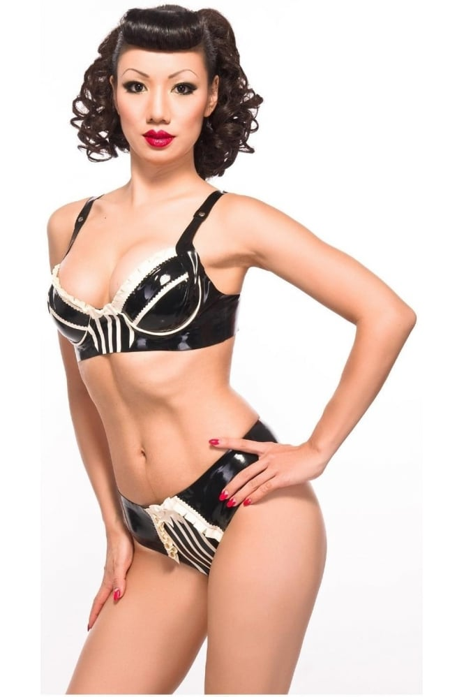 Cheeky-Pie Latex Rubber Bra