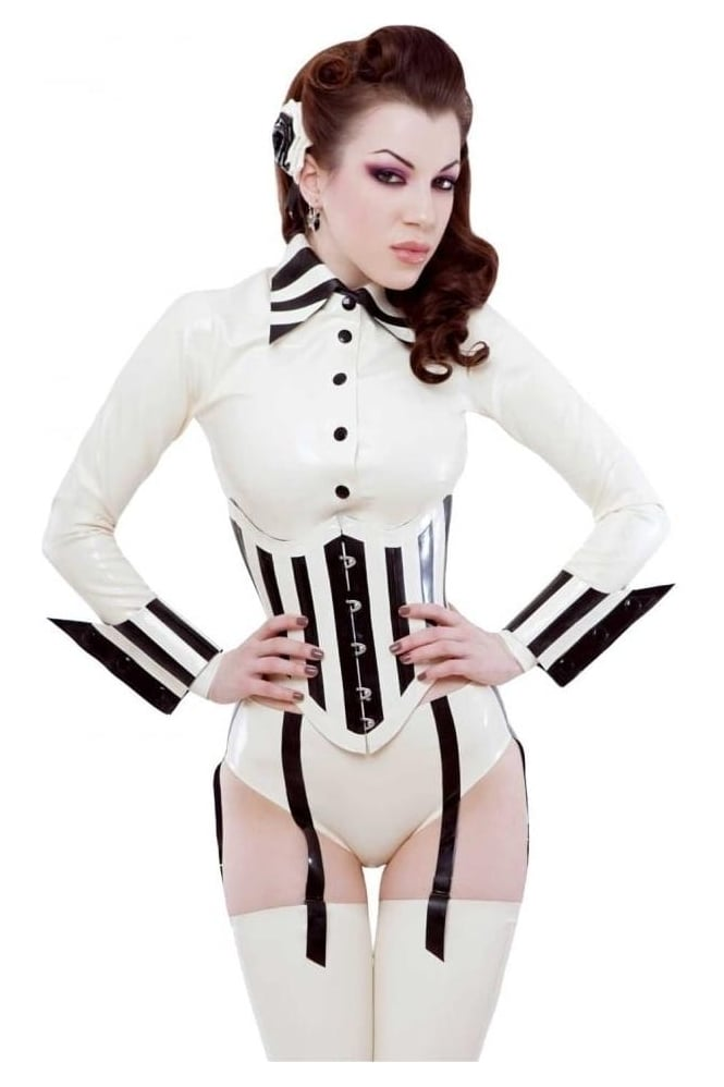 Chi Chi Latex Rubber Shirt .