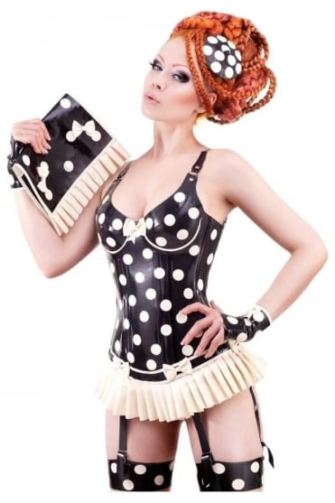 Cirque-Sucre Latex Rubber Corset.