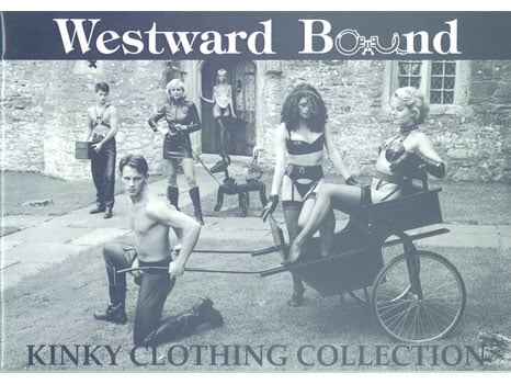 Westward Bound daring kinky latex rubber clothing collection from 1994.