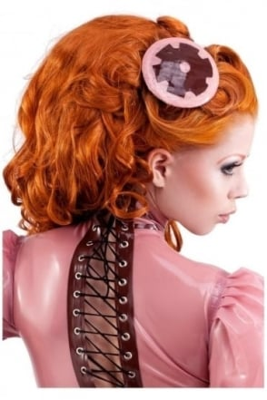 Cog Disc Latex Rubber Fascinator