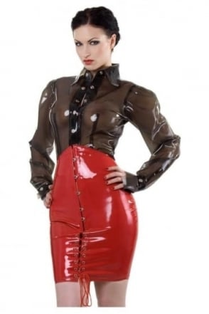 Corset Latex Rubber Skirt.