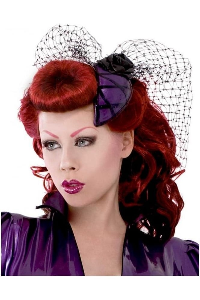 Criss Cross Rose Latex Rubber Fascinator