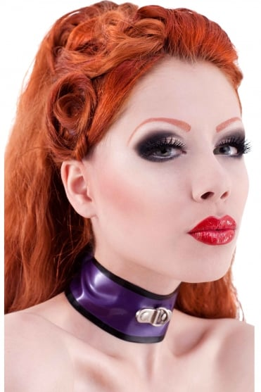 D-Ring Choker Latex Rubber Collar