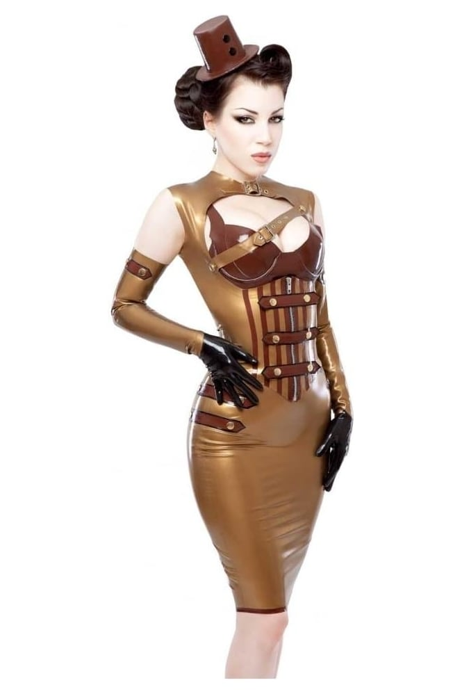Dame Blanche-Boobistrap Latex Rubber Top