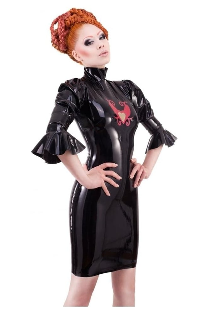Dame Perignon Dress Latex Rubber Dress