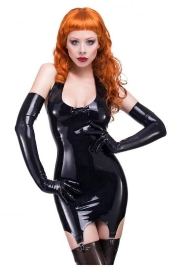 Darianne Suspender Latex Rubber Dress