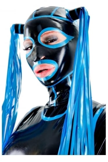 Deluxe Vixen Mask Latex Rubber Hood