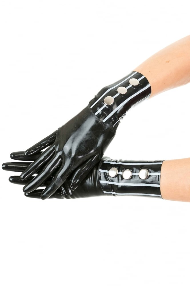 Dom Elegance Latex Rubber Wrist Gloves