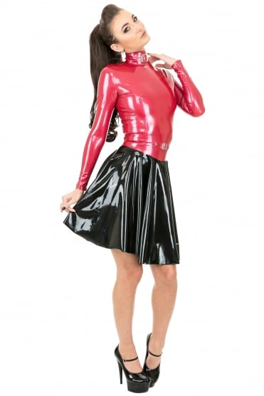 Domme Illicit Latex Rubber Skirt