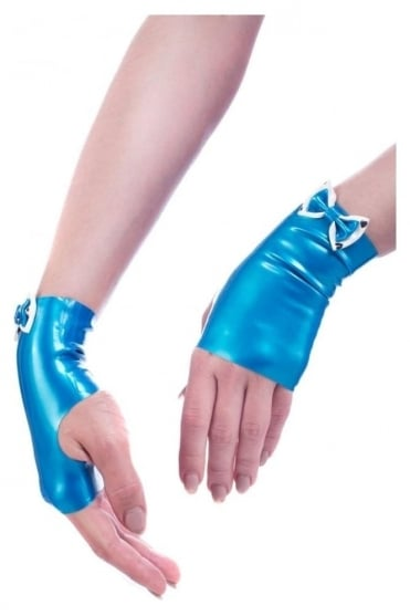 Double Bow Latex Rubber Mitts