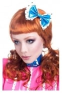 Double Latex Rubber Hair Bow