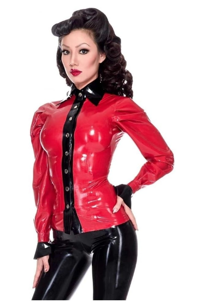Elite Latex Rubber Blouse