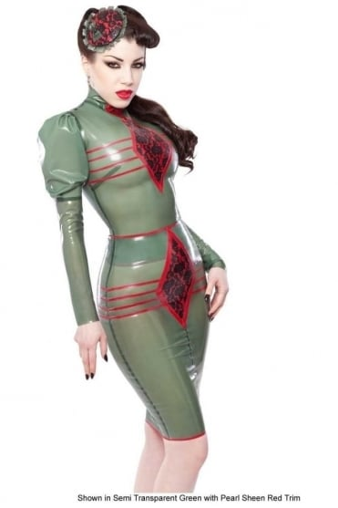 Elle Bordelle-L'Amour Pencil Latex Rubber Skirt