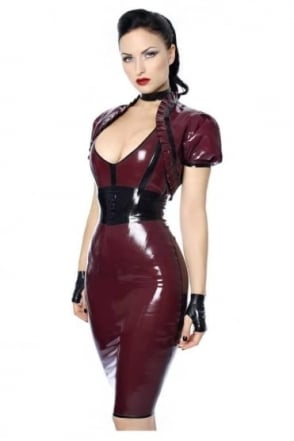 Eva Pencil Latex Rubber Skirt.