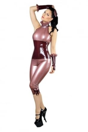 Fembot Capri Latex Rubber Leggings