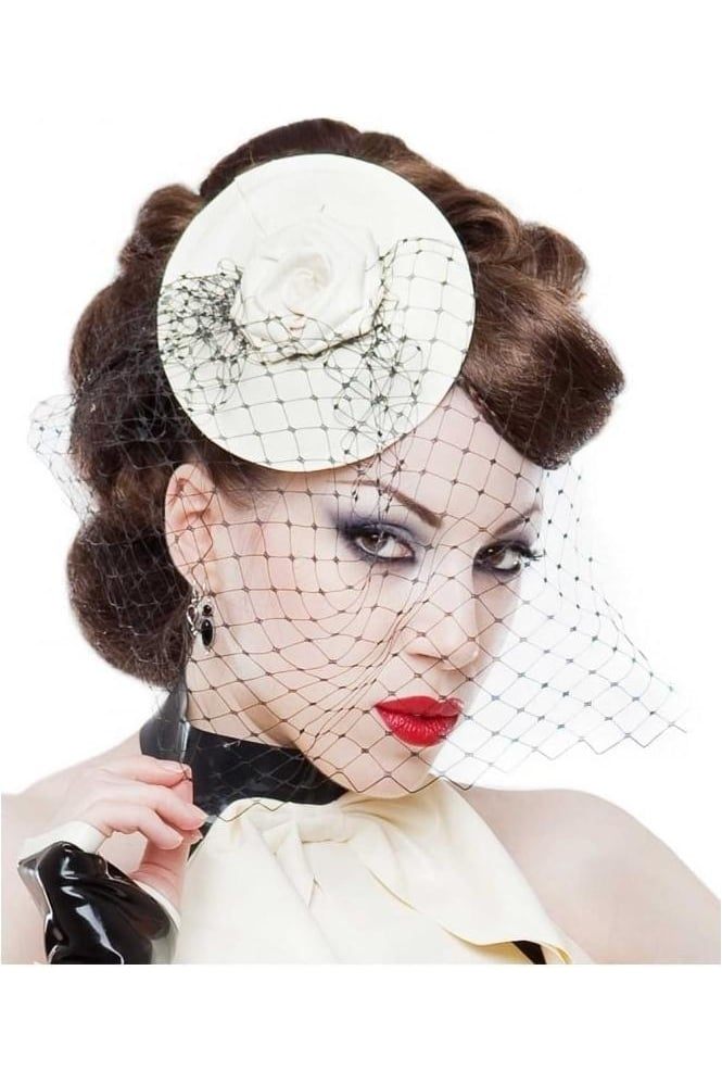 Femme Latex Rubber Fascinator