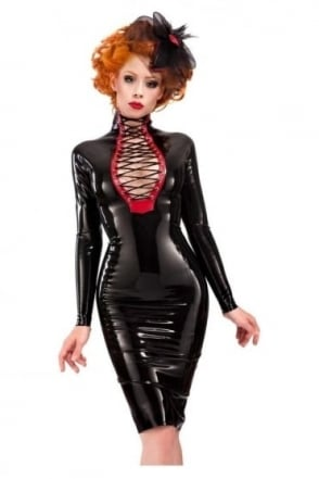 Flash Pencil Latex Rubber Dress.