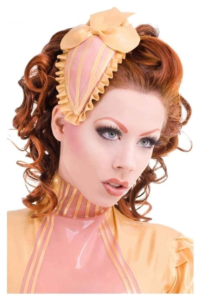 Frilled Bombshell Latex Rubber Fascinator