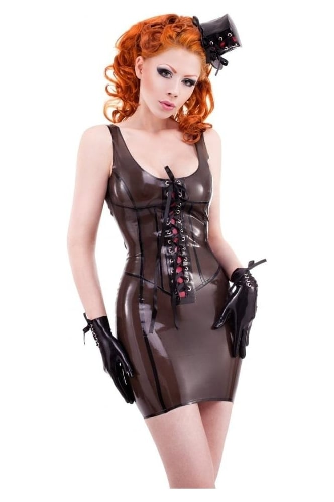 Gigi Corset Latex Rubber Dress.