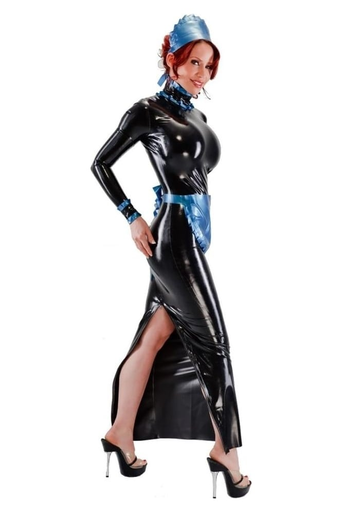 Governess Maid's Latex Rubber Uniform.