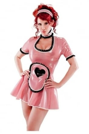 Heart Maid's Latex Rubber Uniform.